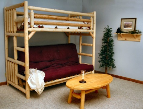 seductive-ikea-teen-bedroom-inspiration-design-kids-beds-ideas-with-brown-bamboo-bunk-bed-along-dark-red-sofa-also-brown-finish-varnished-wooden-oval-coffee-table-on-the-lig