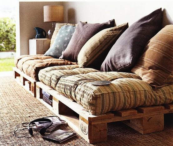 Ideias Personalizadas: PALETE - Fazendo sofá e cama de ...