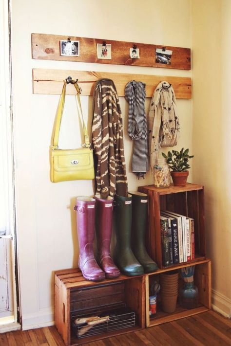 recyle-old-wood-crates-for-an-entryway-storage